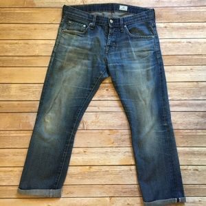AG Adriano Goldschmied Roll Up Cropped Jeans 30